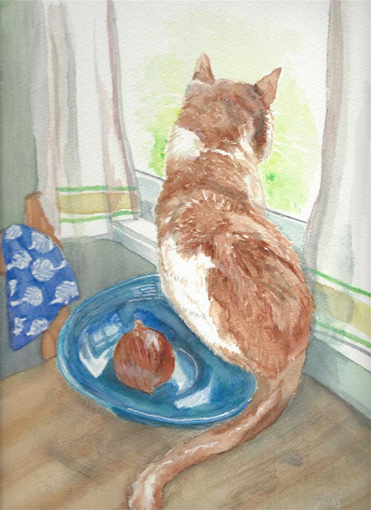 """""""Mitten's World"""" original fine art by Laura Denning"""