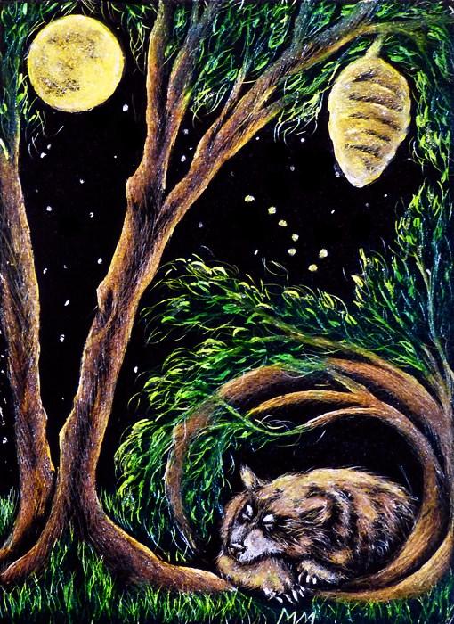 """Bear Totem - SA99"" original fine art by Monique Morin Matson"
