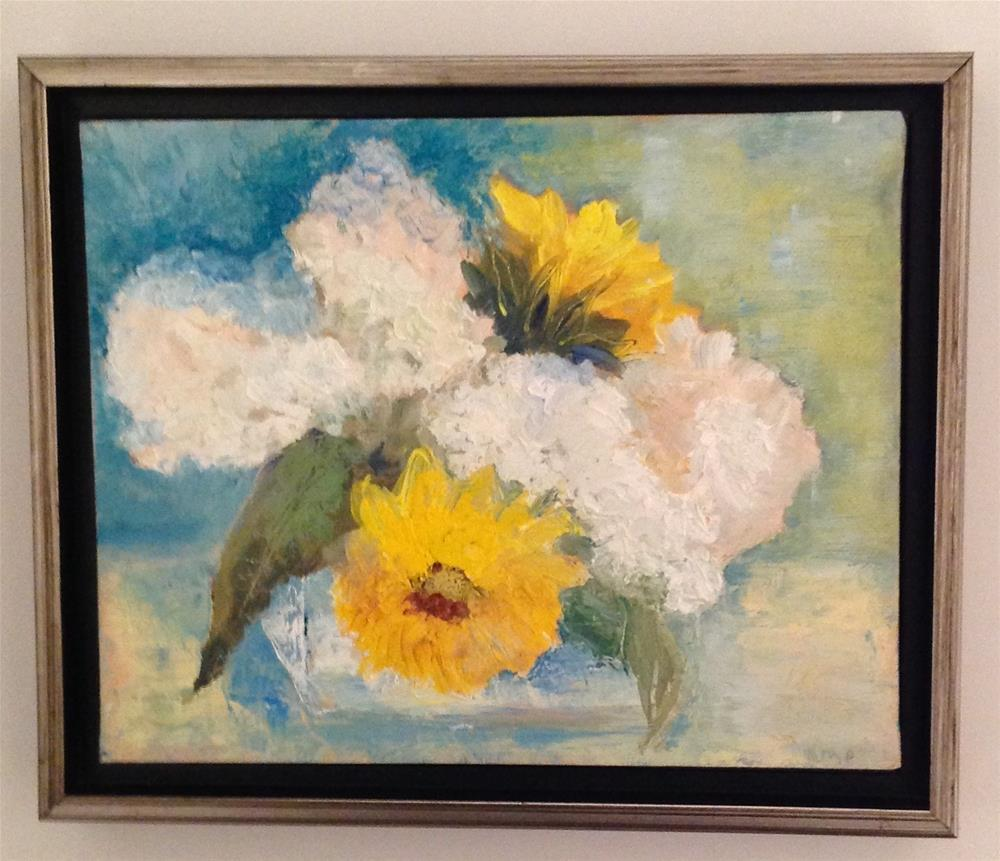 """Sunflowers"" original fine art by Karen Pinard"