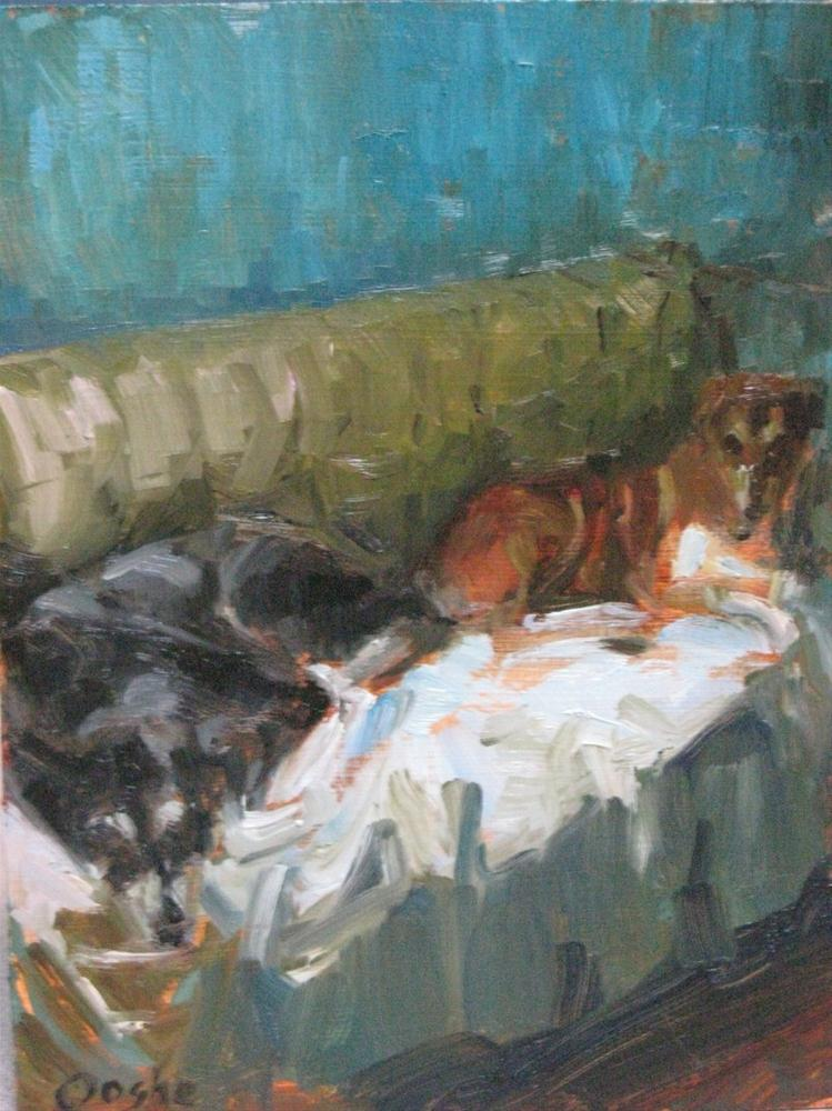 """Amber's Dogs"" original fine art by Angela Ooghe"