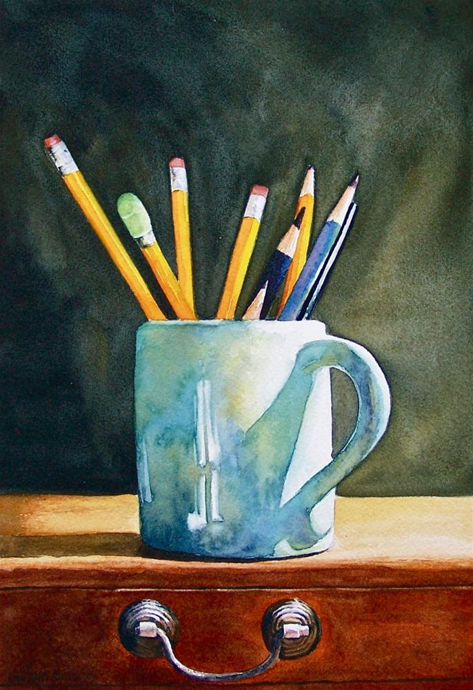 """ CUP OF THOUGHTS "" original fine art by Dwight Smith"