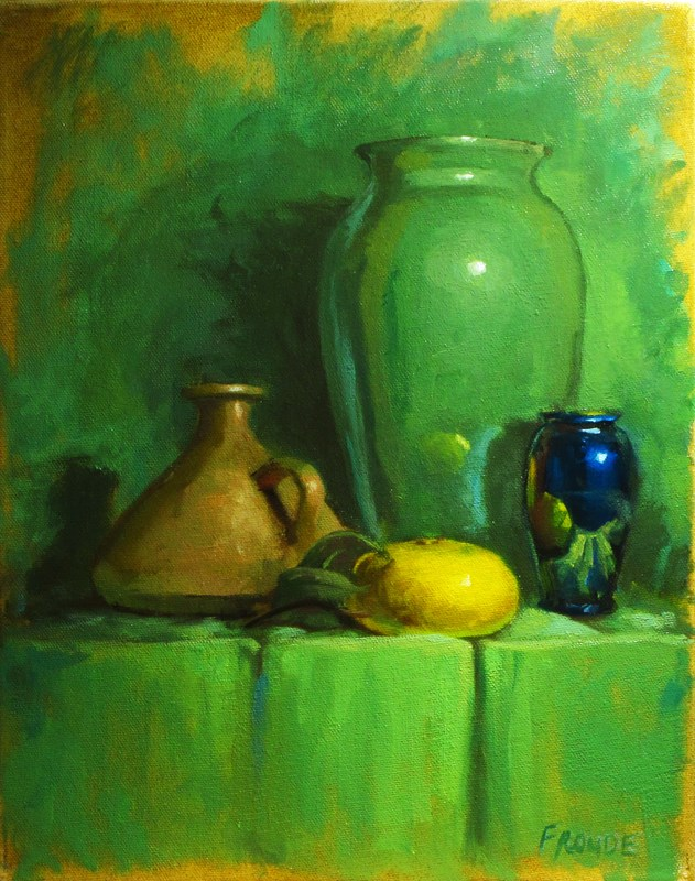 """""""Yellow gourd"""" original fine art by Dave Froude"""
