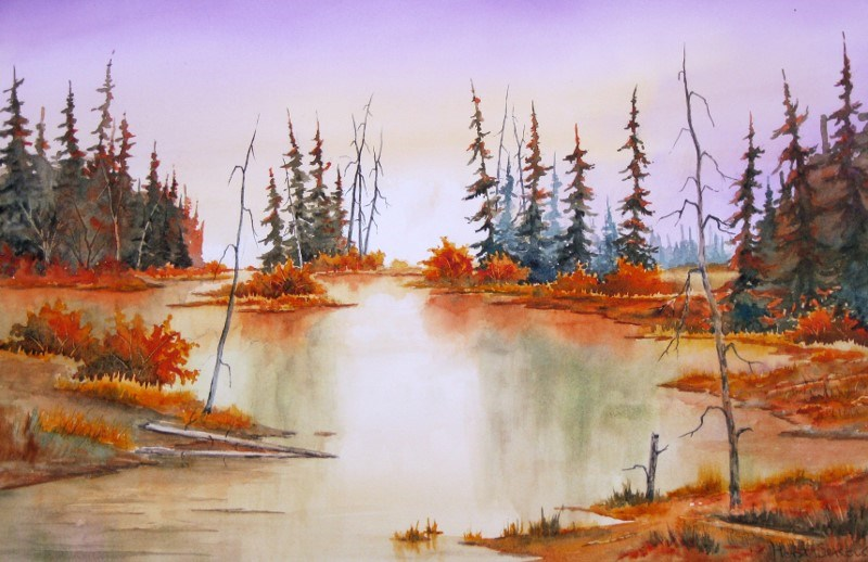 """Peaceful Morning"" original fine art by Horst Berlow"