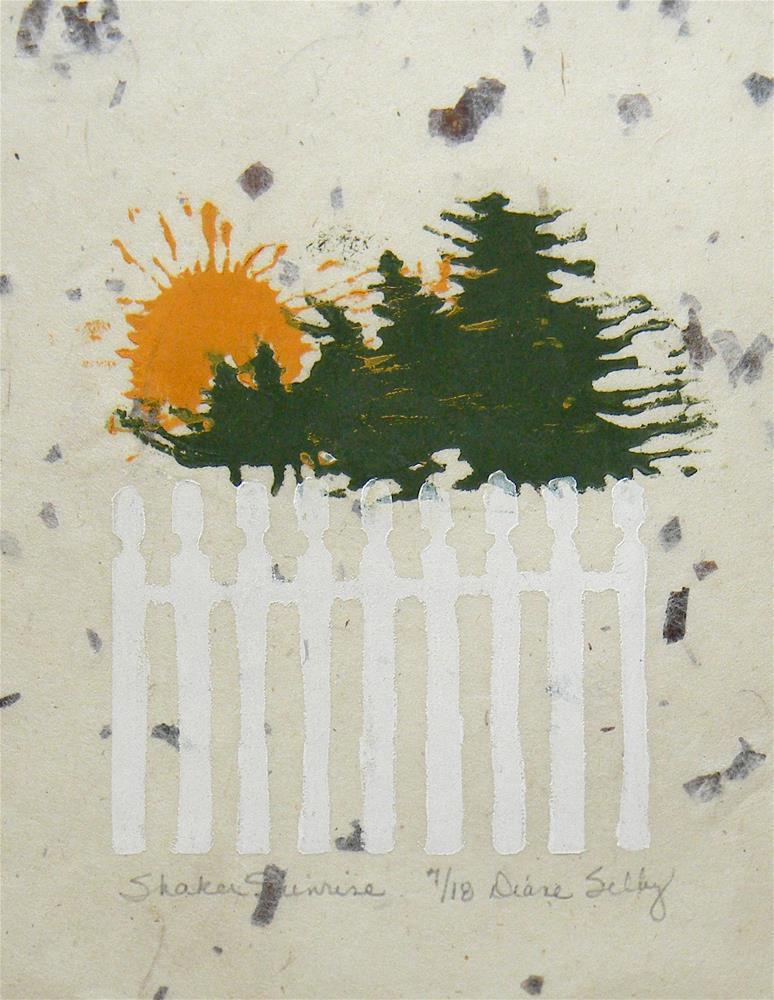 """Shaker Sunrise"" original fine art by De Selby"