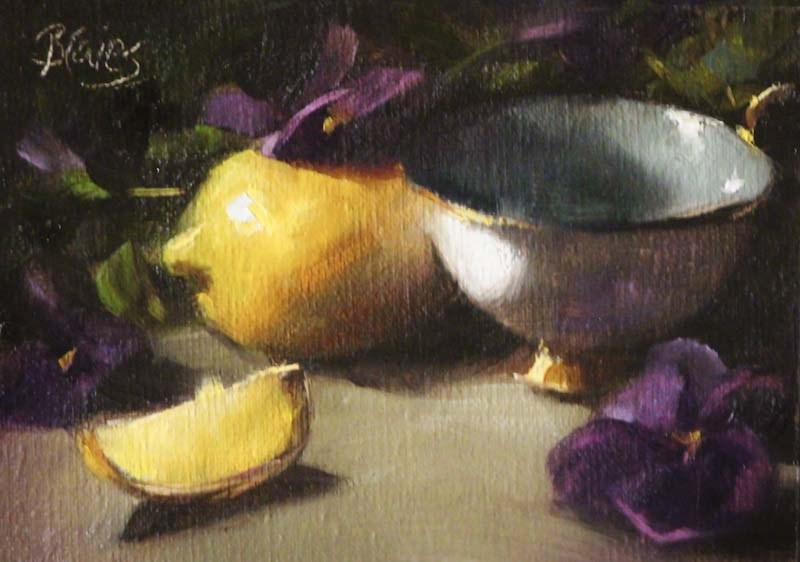 """Pansie's Pansies"" original fine art by Pamela Blaies"