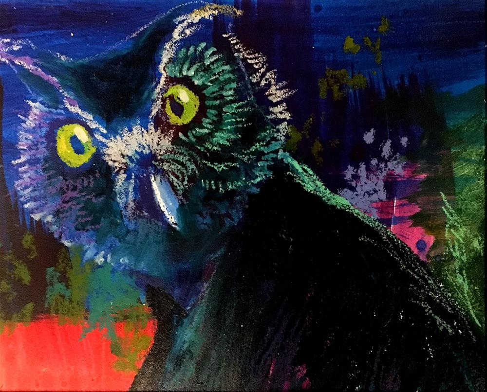 """Who? Hoo? You?"" original fine art by Jeff Leedy"