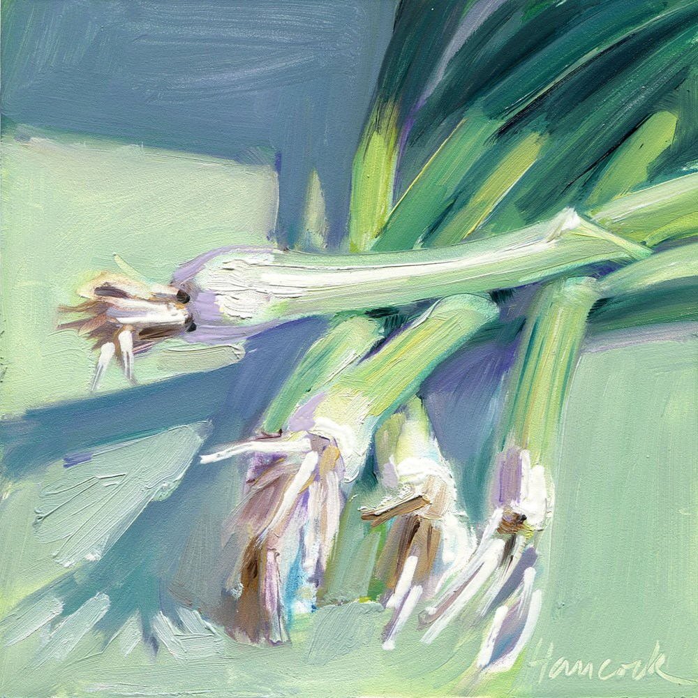"""Spring Onions"" original fine art by Gretchen Hancock"