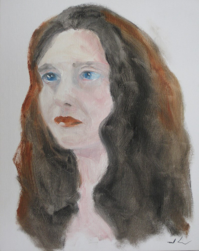 """""""Jennifer"""" original fine art by Julia Lu"""