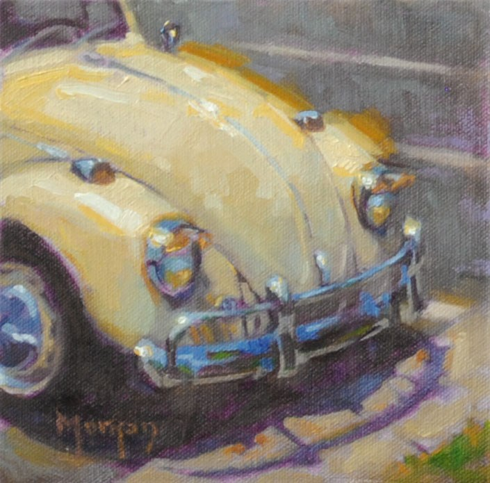 """Vintage Beetle"" original fine art by Cecile W. Morgan"