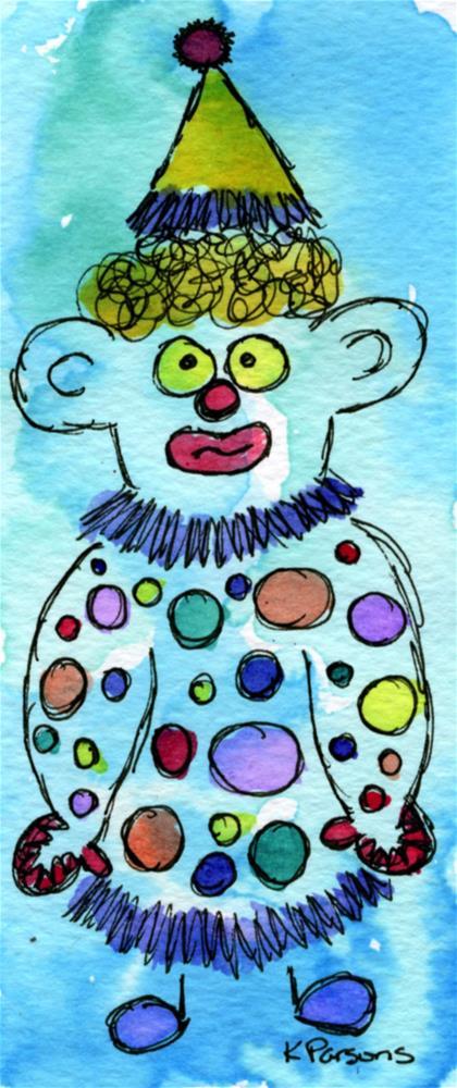 """Clowning Around"" original fine art by Kali Parsons"