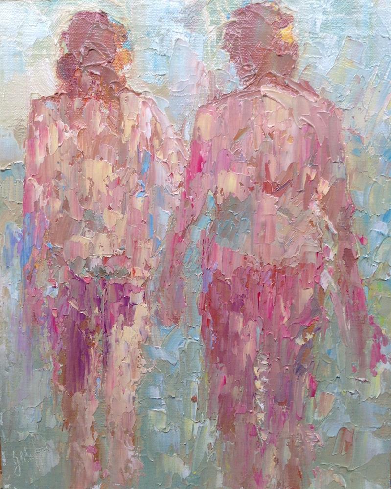 """Violet and blue"" original fine art by Joseph Mahon"