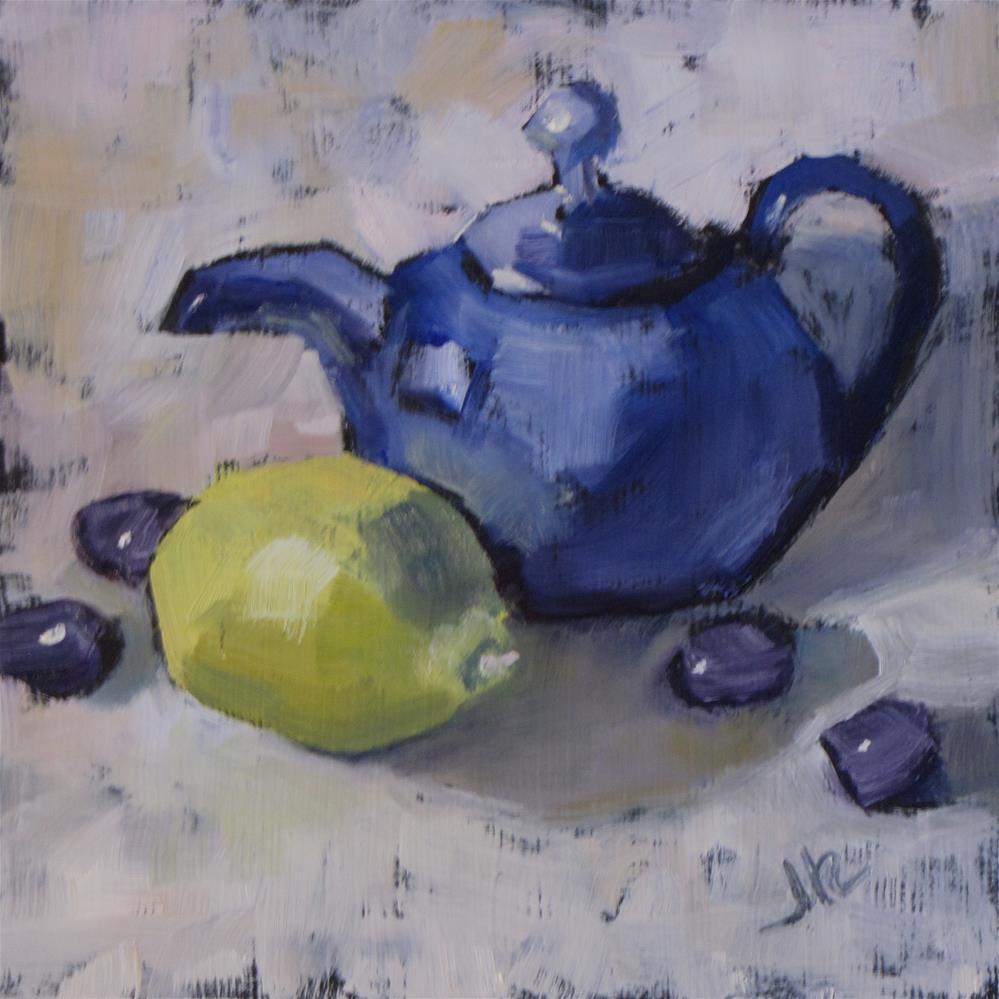 """Tea and Lemon"" original fine art by Louise Kubista"