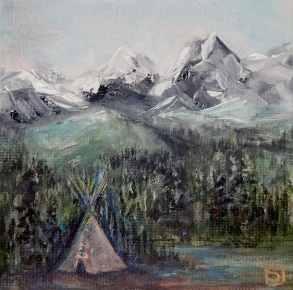"""4038 - Wigwam - Mini Master Series"" original fine art by Sea Dean"