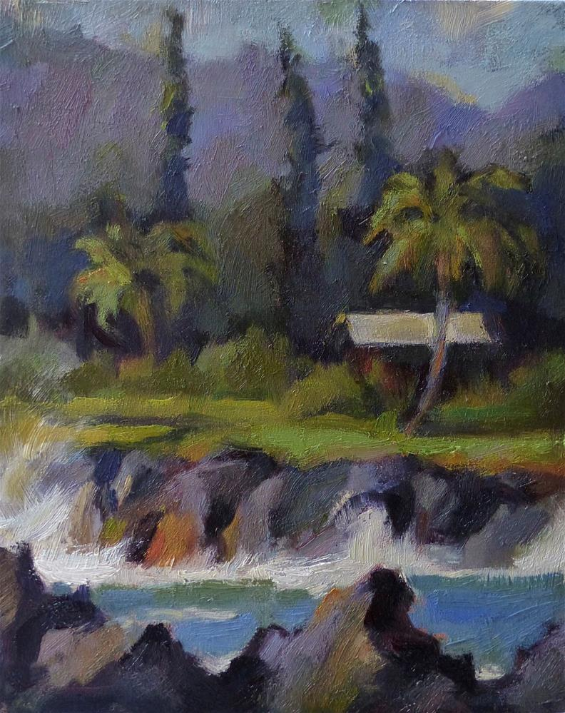 """Pleinair#2 (Ke'anae Peninsula, Maui)"" original fine art by Katya Minkina"