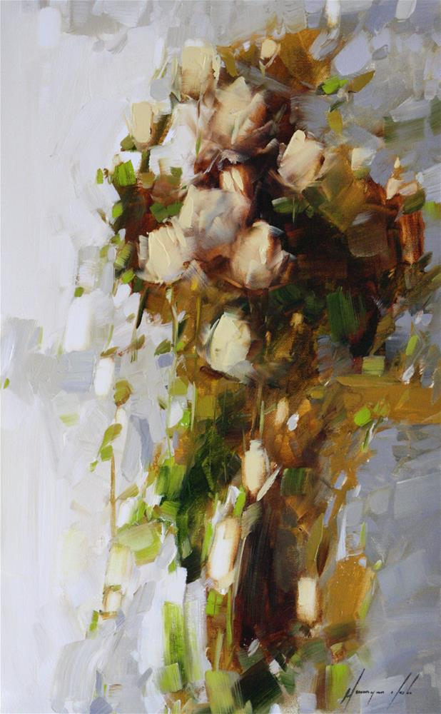 """BOUQUET OF ROSES"" original fine art by V Yeremyan"