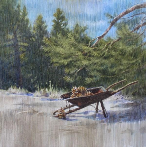 """Barrow of Cones"" original fine art by Ginger Pena"