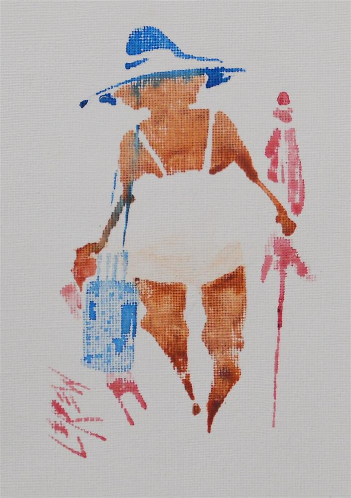 """Serendipity Blot Figure Sketch #13-08-27"" original fine art by Larry Lerew"