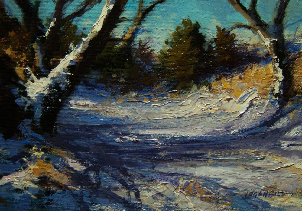 """Creek Bed in the Morning "" original fine art by Joseph Loganbill"