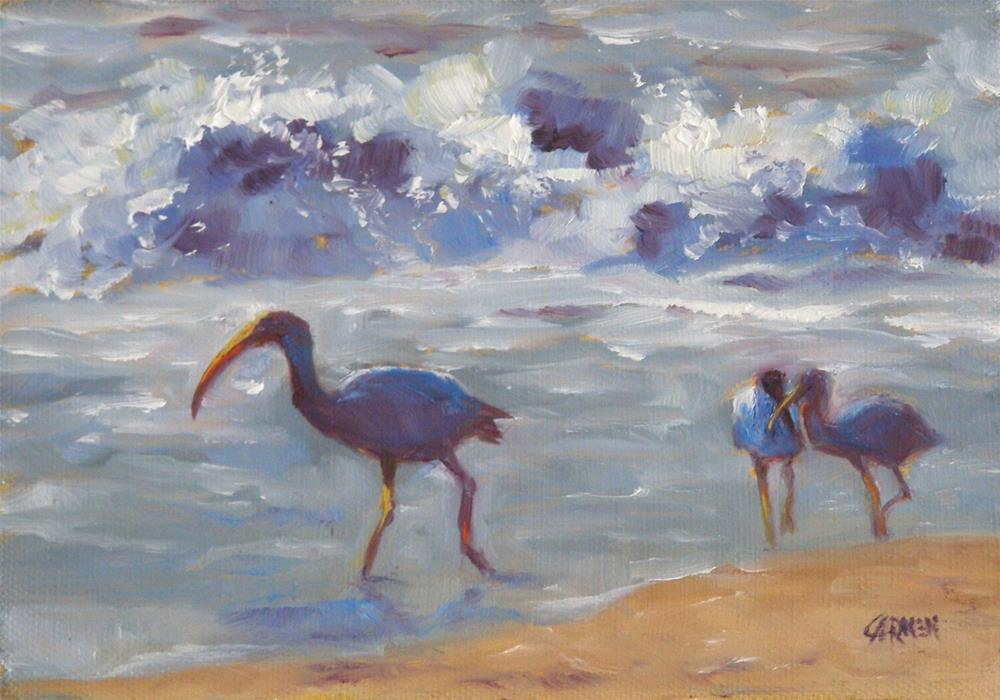 """The Gossips, 5x7 Oil on Canvas"" original fine art by Carmen Beecher"