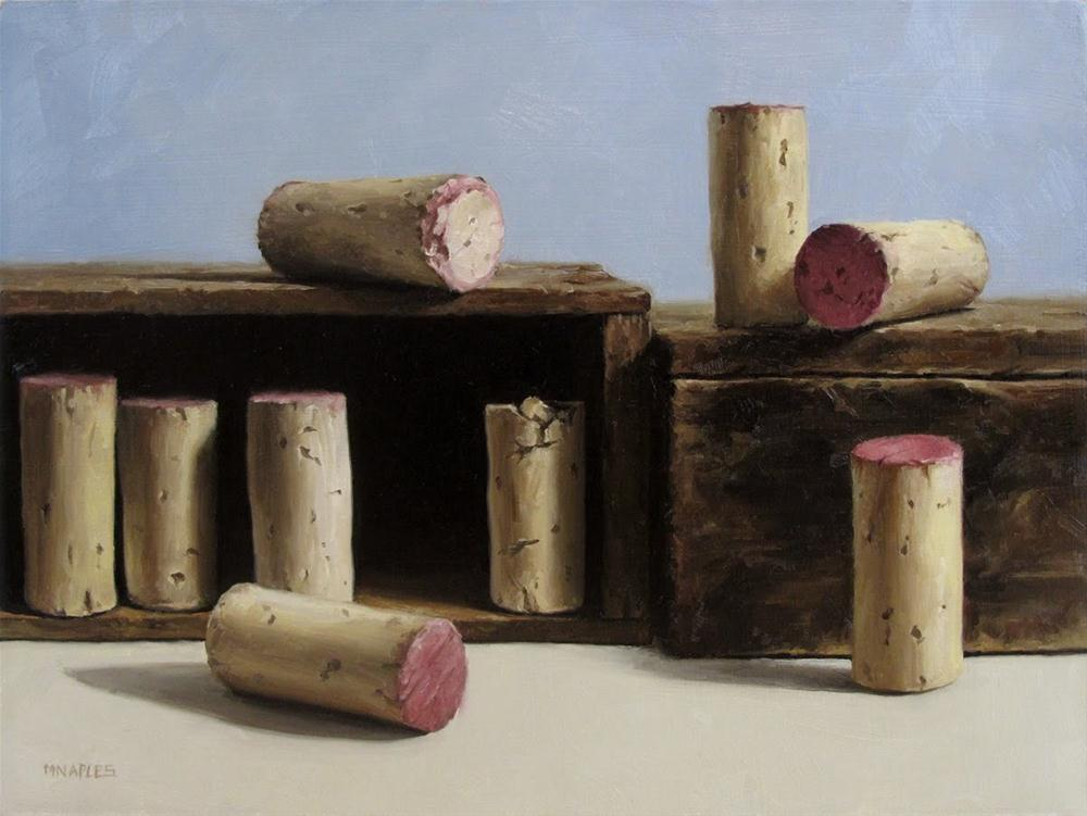 """Corks at Random"" original fine art by Michael Naples"