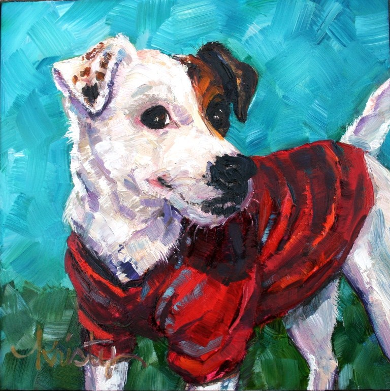"""JACK RUSSELL TERROR"" original fine art by Kristy Tracy"