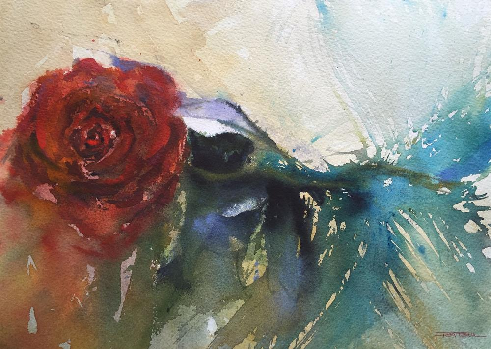 """ROSE OF SANT JORDI"" original fine art by Ferran Llagostera"