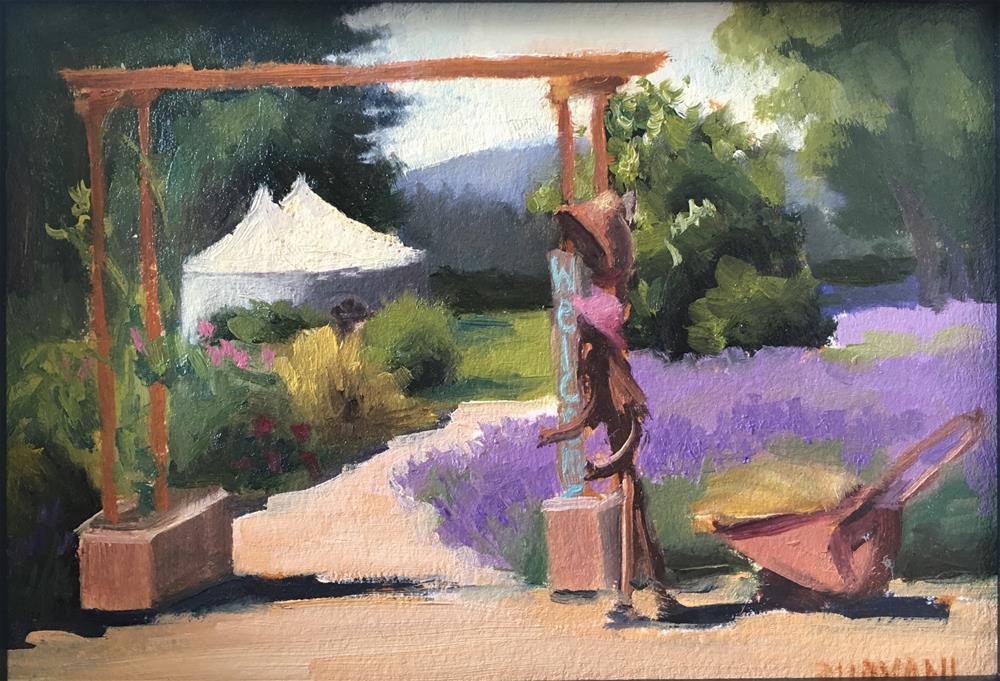 """Lavender Welcome"" original fine art by Bhavani Krishnan"
