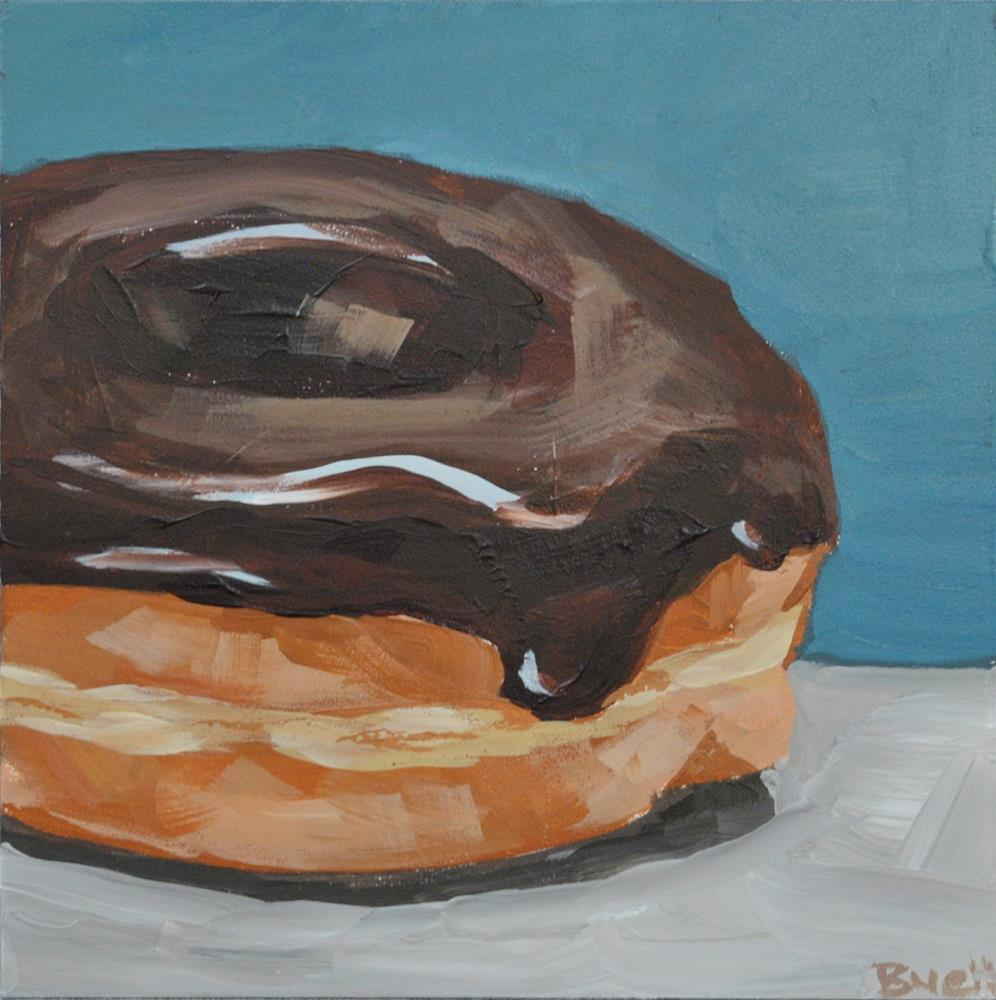 """Chocolate Donut"" original fine art by Shari Buelt"