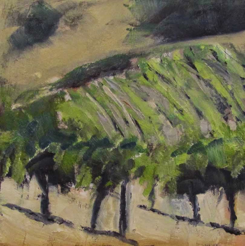 """Vineyard Challenge"" original fine art by Helen Moreda"