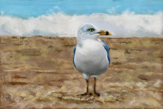 """A Day at the Beach"" original fine art by Ria Hills"