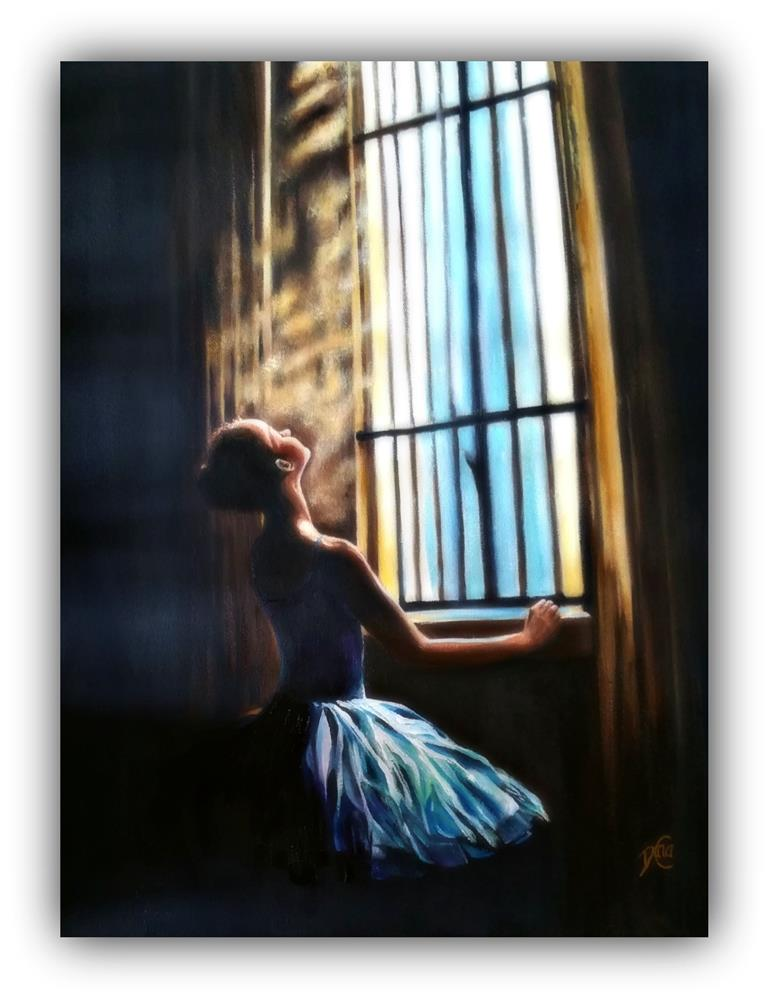 """Enlightment"" original fine art by Dana C"