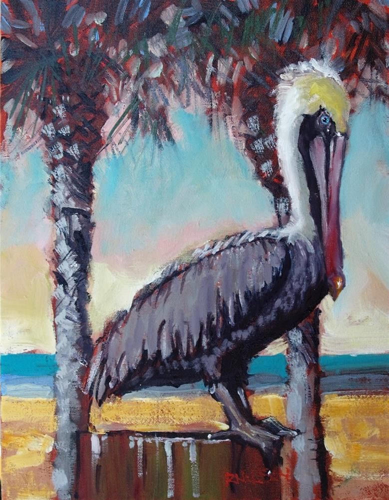 """Tropic of Pelican"" original fine art by Rick Nilson"