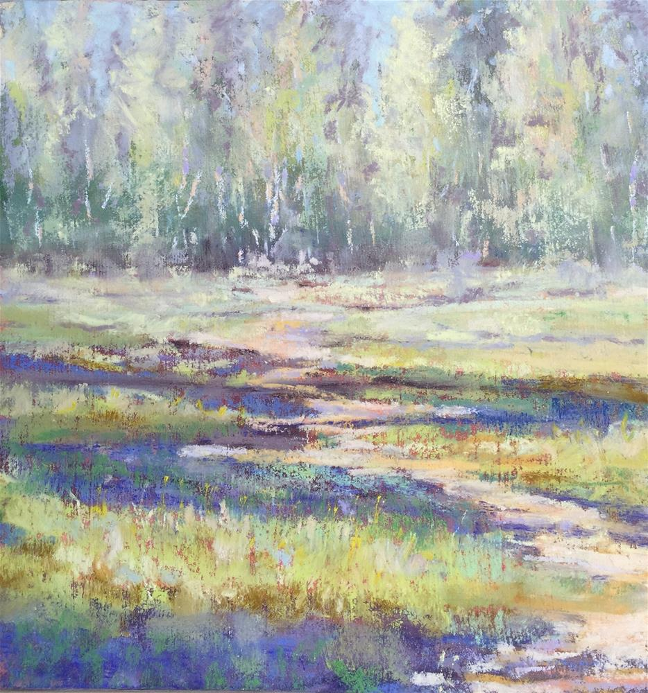 """Dreamy meadow"" original fine art by Natasha Ramras"