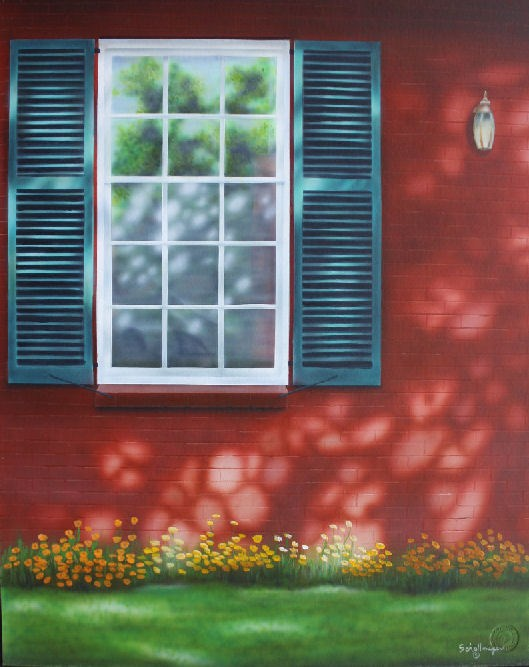 """Sunday Facade"" original fine art by Fred Schollmeyer"