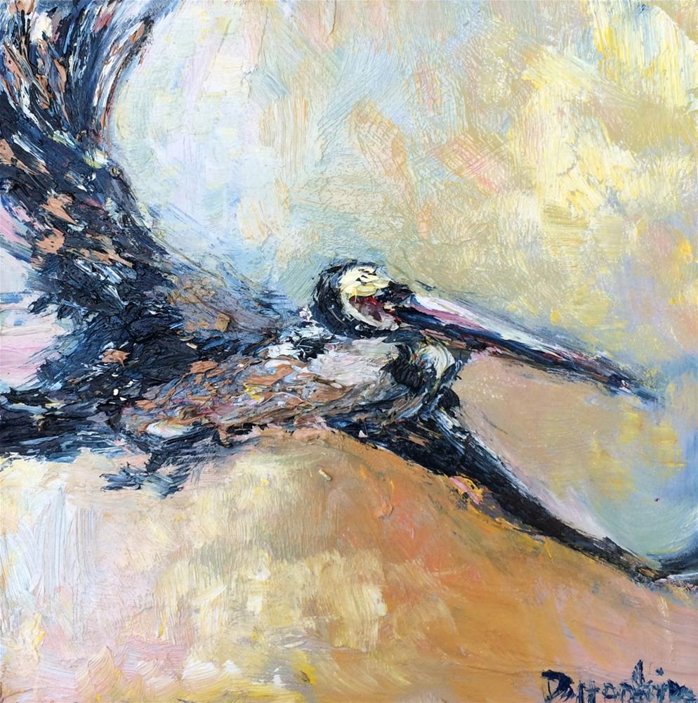 """Fly Away 2"" original fine art by Denise Hopkins"