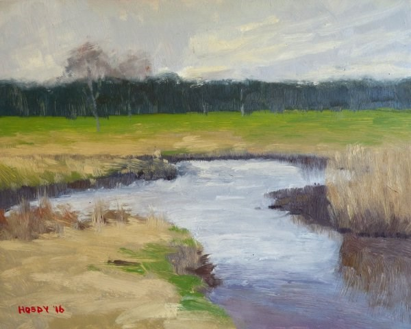 """Tributary 1"" original fine art by Weston Hobdy"