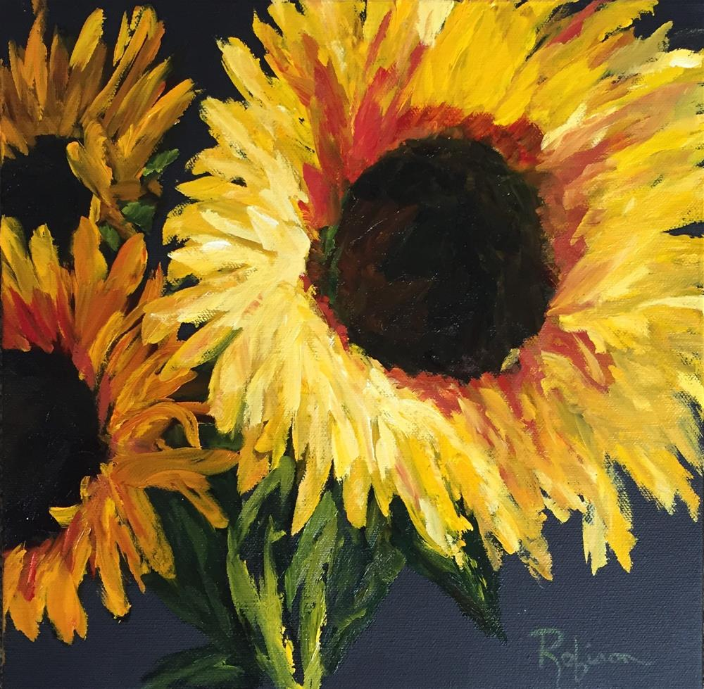 """Sunflower Glow"" original fine art by Renee Robison"