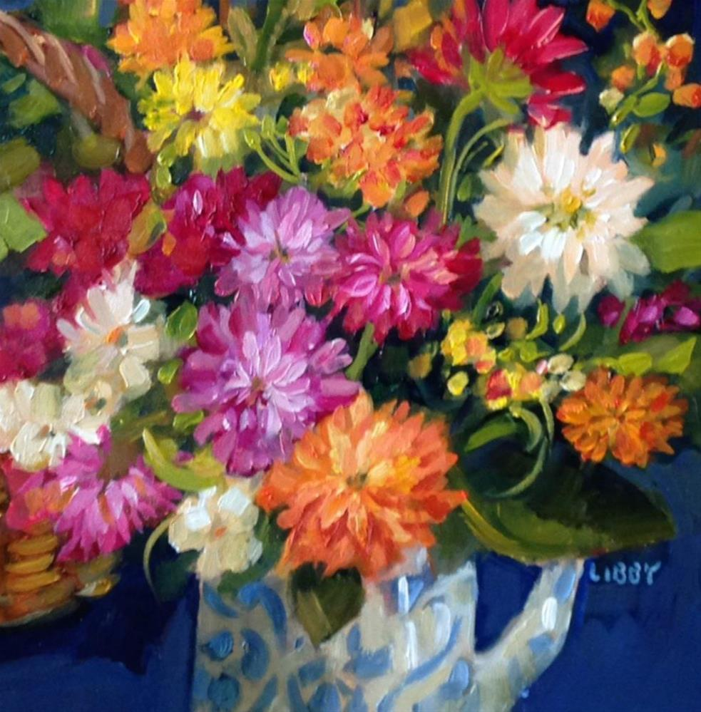 """Dialing for Dahlias"" original fine art by Libby Anderson"