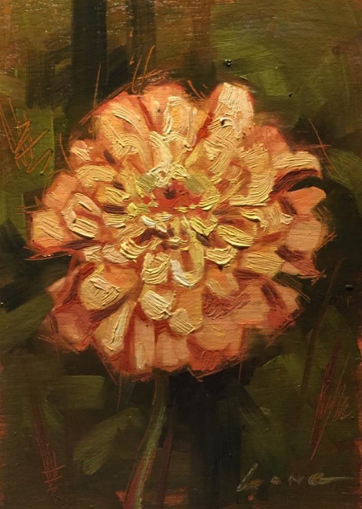 """Zinnia"" original fine art by Chris Long"