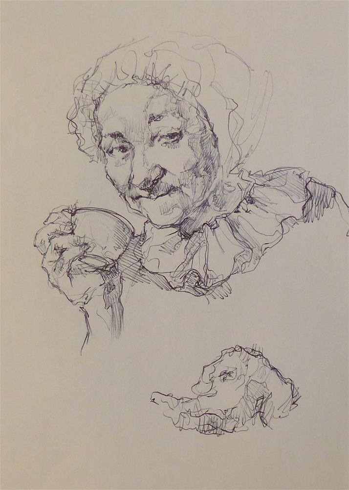 """sketchbook44"" original fine art by Katya Minkina"