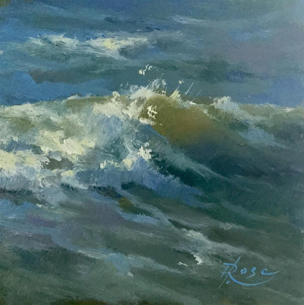 """Jones beach wave 5"" original fine art by Howard Rose"