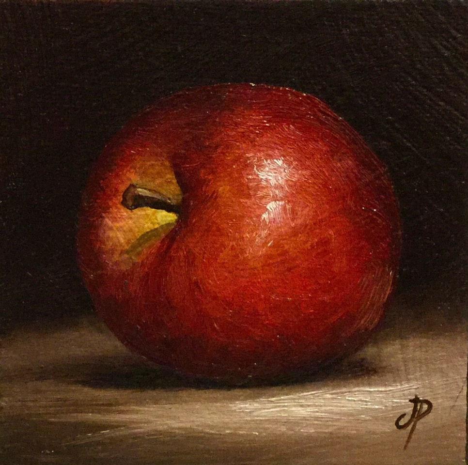 """Little Red Apple"" original fine art by Jane Palmer"