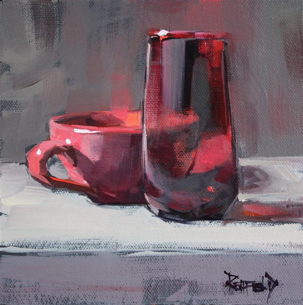 """Pinks and Reds"" original fine art by Cathleen Rehfeld"