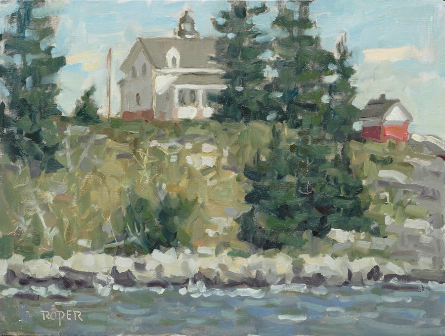"""DAY 3: Pemaquid Point Lighthouse, Afternoon"" original fine art by Stuart Roper"