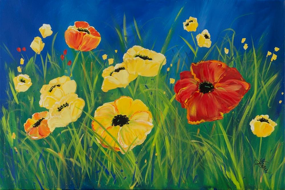 """Poppies"" original fine art by Terri Einer"