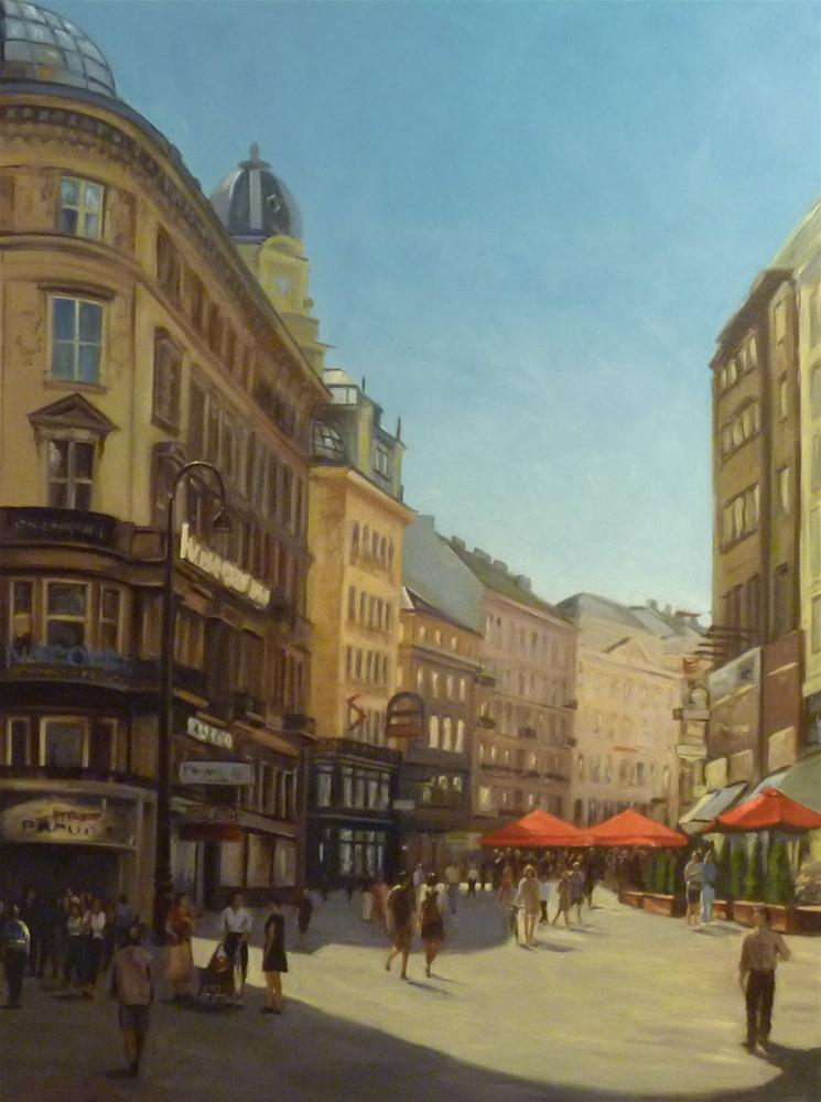 """A Street in Vienna"" original fine art by Jonelle Summerfield"