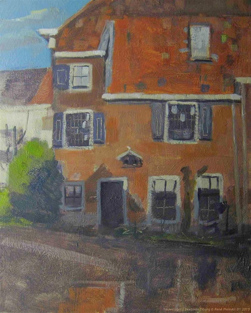 """Touwslagerij Deetman Elburg The Netherlands"" original fine art by René PleinAir"