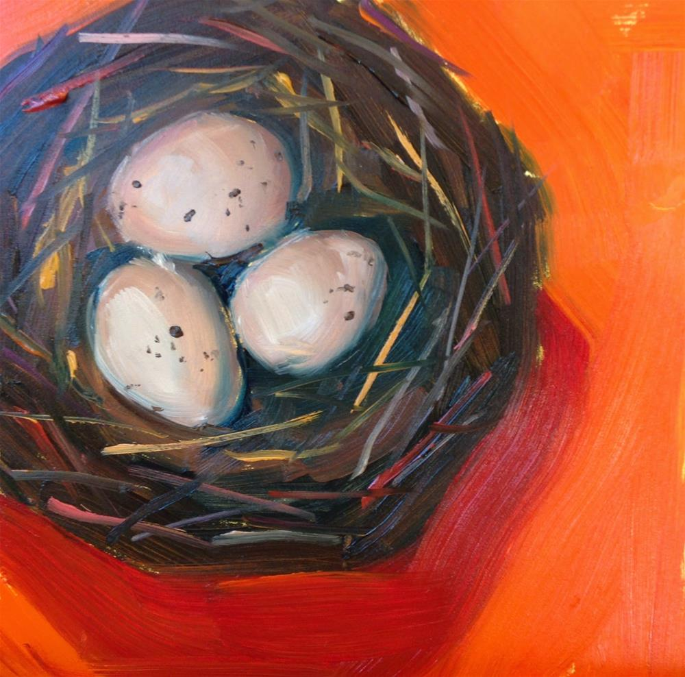 """Full Nest, 6x6 Inch Oil Painting by Kelley MacDonald"" original fine art by Kelley MacDonald"