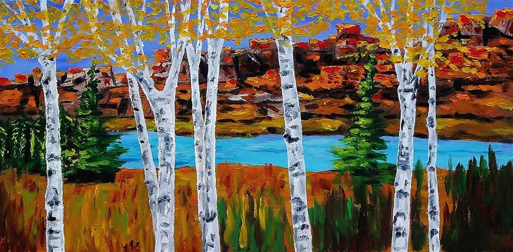 """Aspens and Mesas"" original fine art by Mike Caitham"