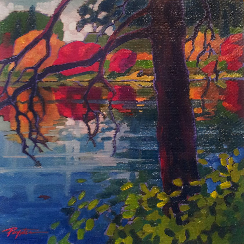 """VanDusen Autumn"" original fine art by Jan Poynter"
